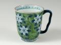 緑濃鉄仙花 マグカップ