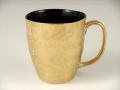 金濃黒釉掛分 波渕マグカップ