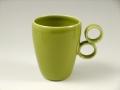 グリーンリング手 マグカップ