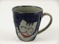 万歳猫(青) マグカップ