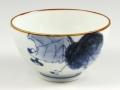 染付野ブドウ 茶碗 大