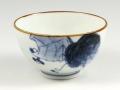 染付野ブドウ 茶碗 小
