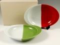 キュウイ パプリカ  ペア極上のカレー皿