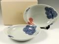 蛸唐草(青)(赤)<オリジナル> ペア極上のカレー皿
