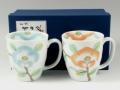 釉彩椿 ペアマグカップ
