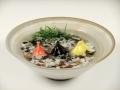 金魚3・粉引鉢(大)セット(小石付)