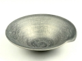 晶雲母銀 一方押反5.5寸鉢