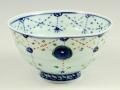瓔珞紋手作り 茶碗 大