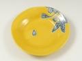 黄釉彩変型 銘々皿