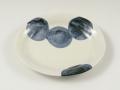 円(青) 楕円皿