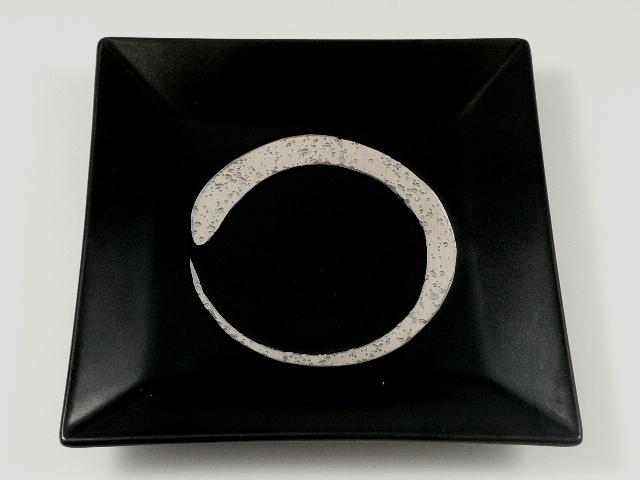 新黒マットプラチナ刷毛額渕 5.5寸皿