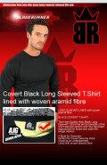 BR-ケブラーロングTシャツ ブラック