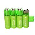 1.5V 単三型 リチウムイオン電池 USB充電 4個セット (AR15)