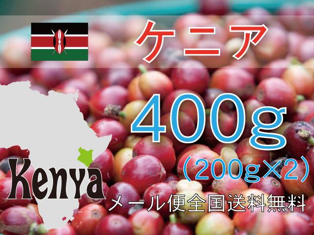 ケニア キウニュウ農協 400g 中深~深煎り メール便送料無料
