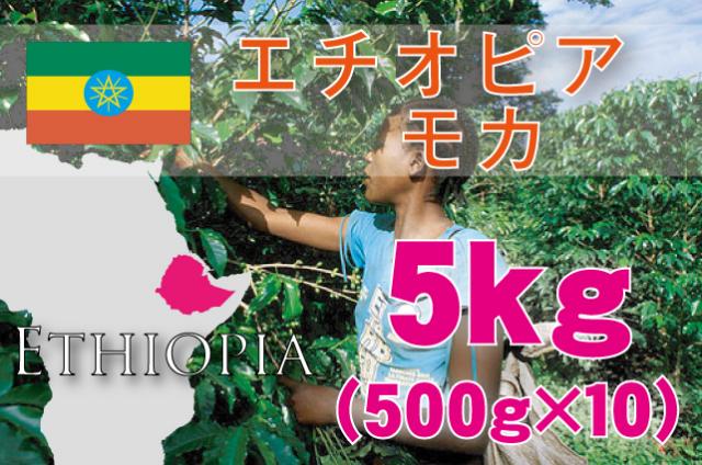 エチオピア モカ 5kg 浅~中煎り
