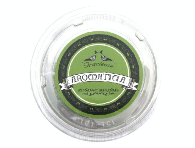 緑茶グリーン:ニキビ肌 | 和漢のハーブを練り込んだこんにゃくスポンジ