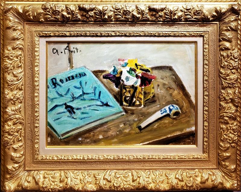 小絲源太郎 『三色菫』 キャンバスに油彩 変形6号