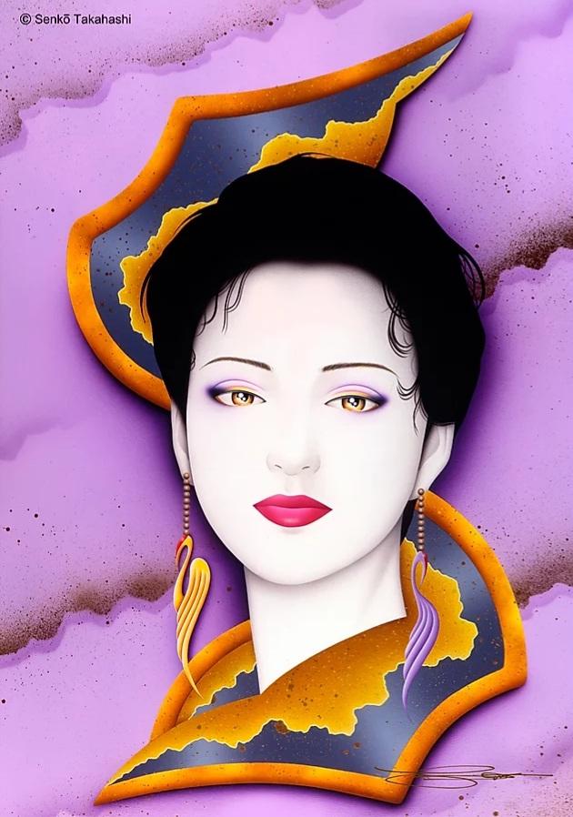 高橋宣光 『 kyomai 』 イラストレーションボードにアクリル