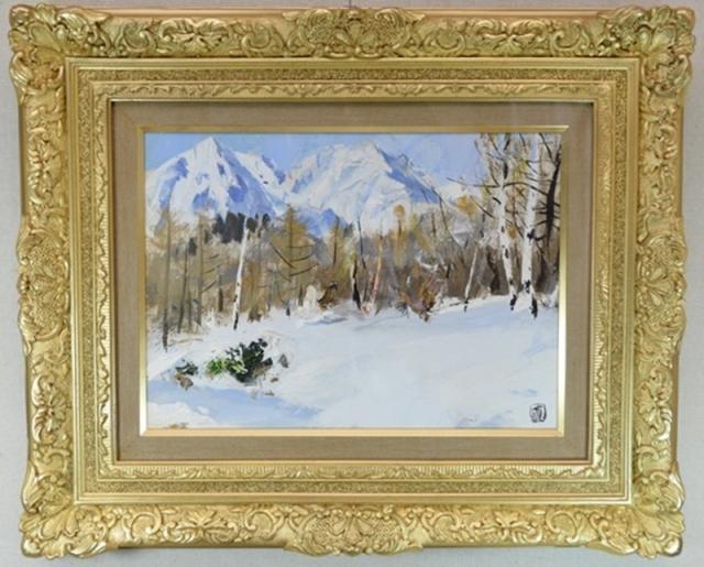足立真一郎 雪の白馬高原