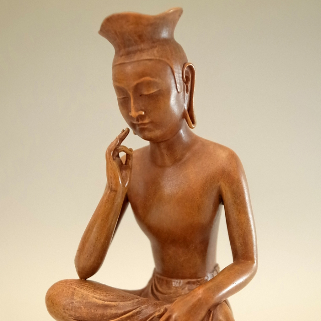 BuddhismArt 弥勒菩薩 (木彫彩色仕上げ)