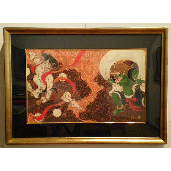 日本画 戸屋勝利 風神雷神|ジークレー版画