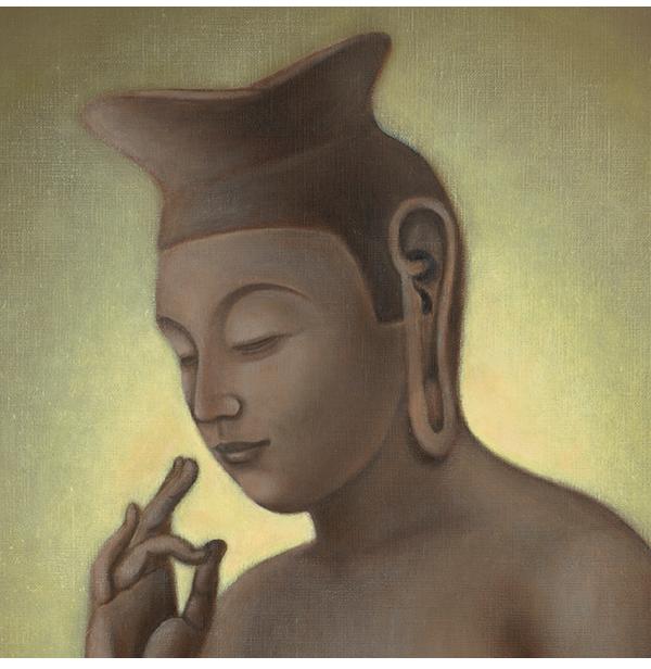 仏画|ジークレー版画|弥勒菩薩像 川原美奈 【S4号】