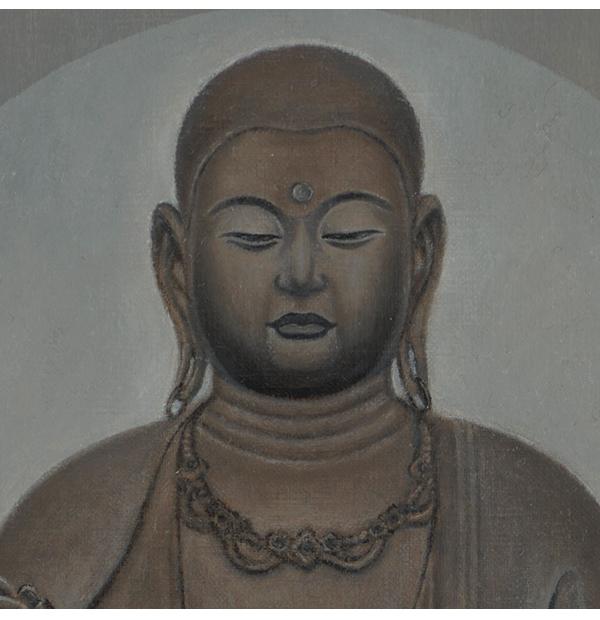 仏画|ジークレー版画|地蔵菩薩像 川原美奈 【F4号】