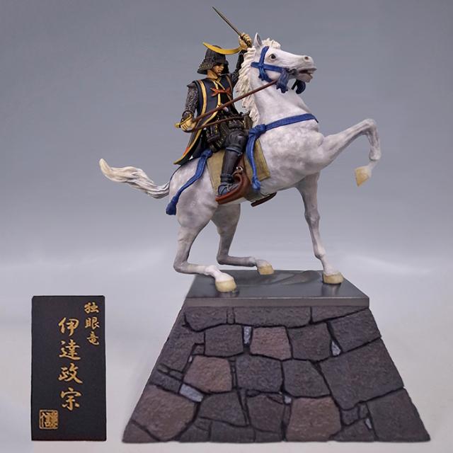 生誕450年記念像 伊達政宗(騎乗像)石垣版 完全彩色|限定制作100体|独眼竜政宗