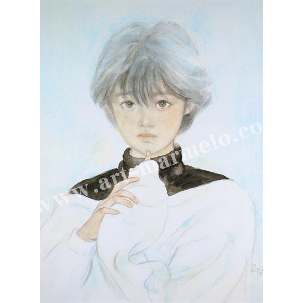おおた慶文のアートプリント「前髪」額