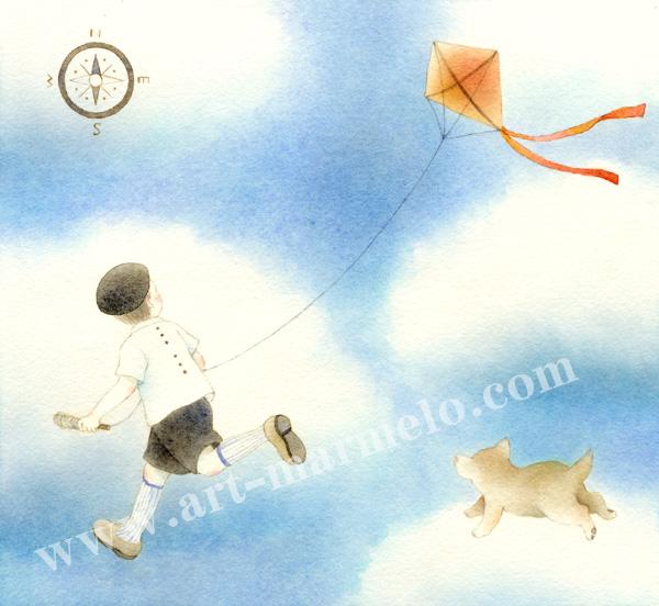 蓮田千尋の原画「Kite」