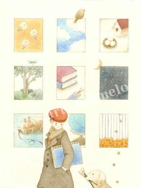 蓮田千尋の原画「sketch book」