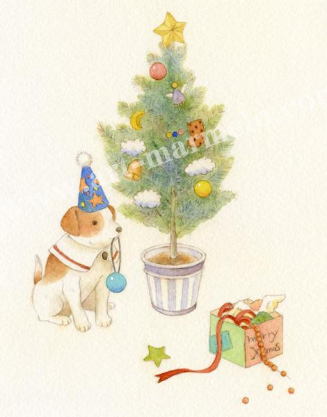 蓮田千尋の原画「クリスマスを待ちわびて」