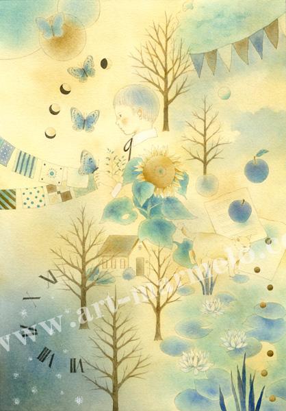 蓮田千尋の原画「記憶の森」