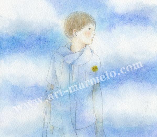 蓮田千尋の原画「東から」