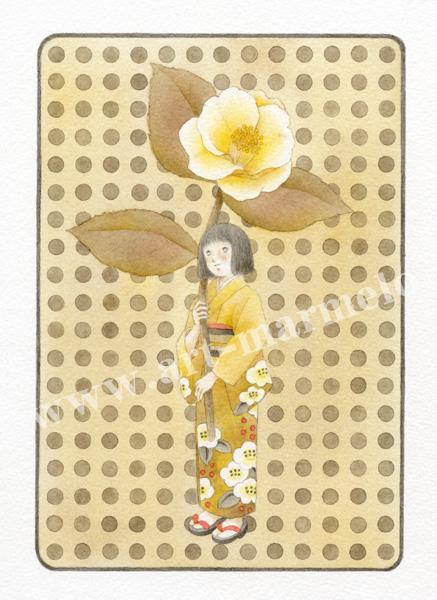 蓮田千尋の原画「白い想い」