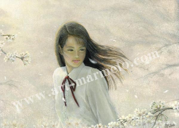 万葉睦月の原画「綺麗な風」
