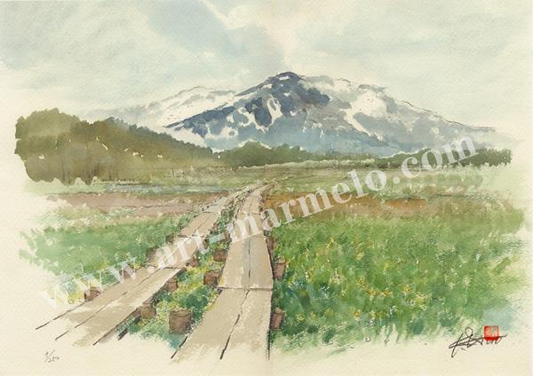 後藤勝美の版画「尾瀬沼」、版画の通販専門店アート・マルメロ
