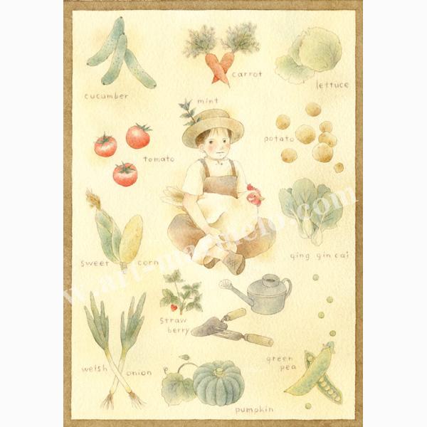蓮田千尋の版画「J's garden」