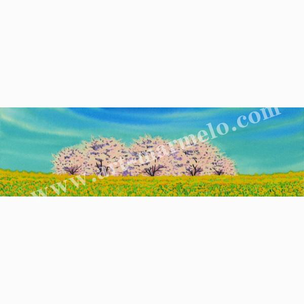 栗乃木ハルミの版画「春らんまん」