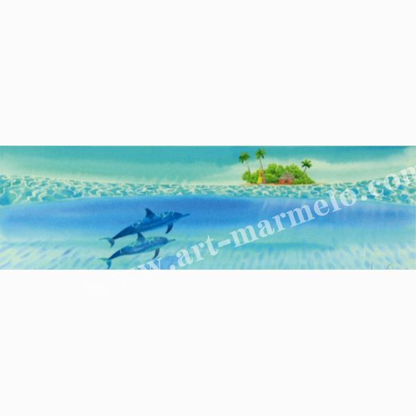栗乃木ハルミの版画「beneath the sea」