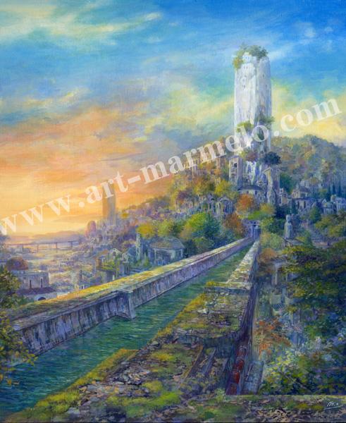 待井健一の版画「色づく季節」、版画の通販専門店アート・マルメロ