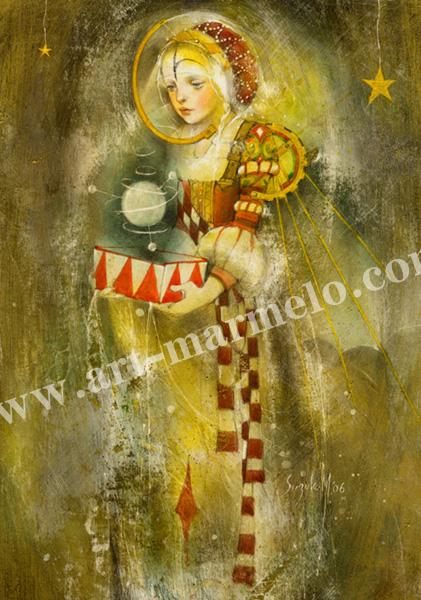 「届かぬ想い 人魚姫花の夢」牧野鈴子の版画