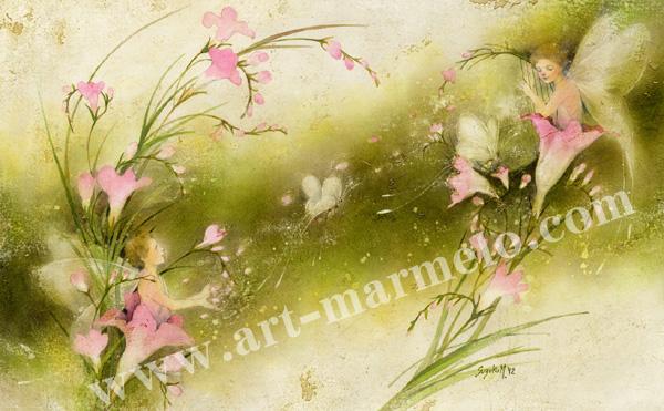 「愛の歌」牧野鈴子の版画
