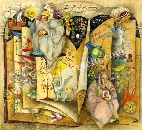 「愛読書」牧野鈴子の版画