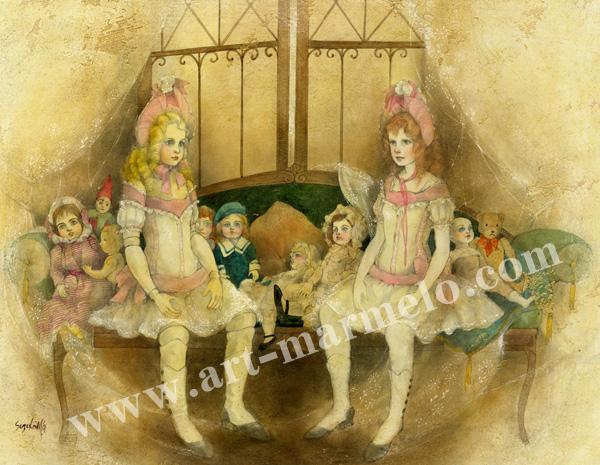 「Doll」牧野鈴子の版画