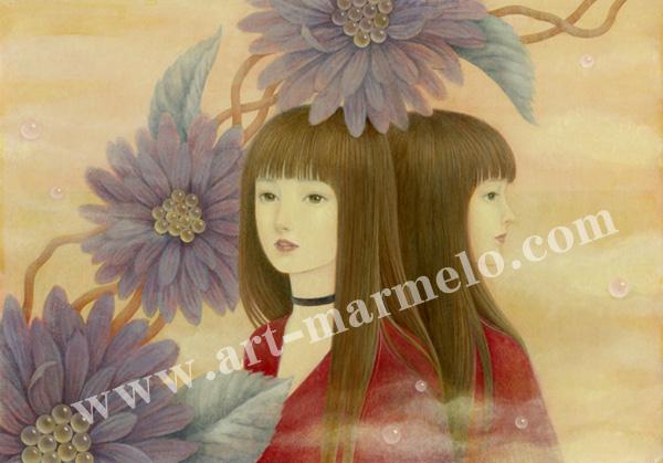 目黒直子の版画「If」