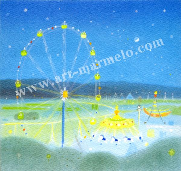 大西秀美の版画「夢みたものは」、版画の通販専門店アート・マルメロ