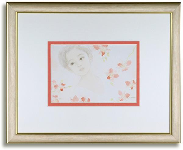 おおた慶文のポストカード額装「色づく想い」額装