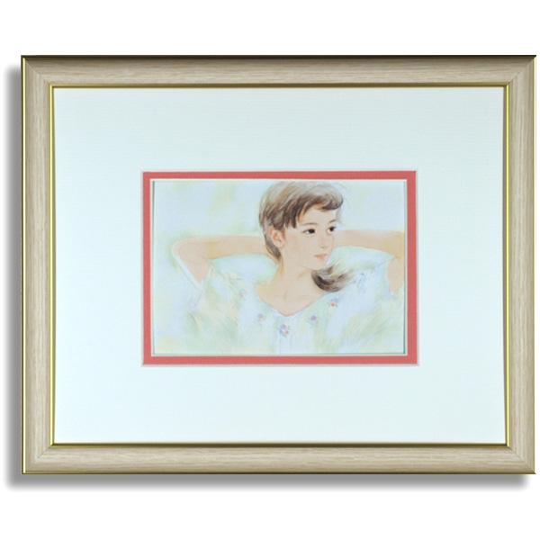 おおた慶文のポストカード額装「しなやかに春色」額装