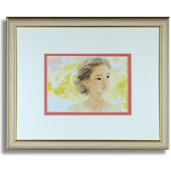 おおた慶文のポストカード額装「常春の君」額装